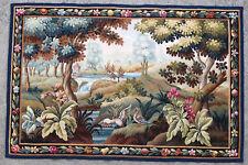 Tapisserie ancienne tapis ancien rug Europeen Français France Aubusson 1960