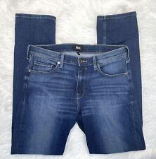 New listing Paige Lennox Preston Men's Slim Fit Jeans Stretch Straight Medium Wash Sz 34