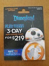 Disney ** STAR WARS ** BB-8 Ltd Ed Gift Card - MINT/HTF - No $ value