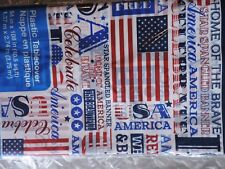 "AMERICAN USA Table Cover Decoration, 54""x108"" Tablecloth Party Home of the BRAVE"
