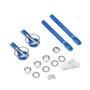 Universal Alloy Mount Bonnet Hood Pin Pins Lock Latch Kit Racing Sport Car Blue