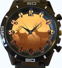 Deer Elk in Foggy Sunset Vintage Style Gift Unisex Wrist Watch Fast UK Seller