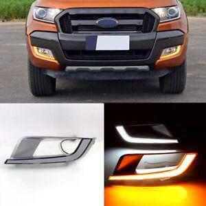 LED Daytime Running Light DRL Turn Signal Fog Kit For Ford Ranger 2015-2018