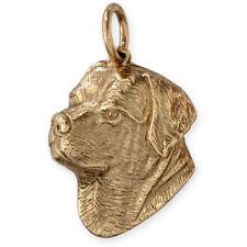 More details for solid 9ct gold rottweiler (rotty) dog pendant ~ (handmade uk)