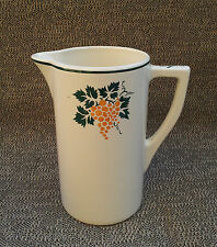 Ancien gros pichet eau toilette déco vigne Longwy art pop french antique pottery