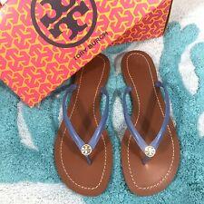 NIB Tory Burch Terra Flat Thong Leather Sandal Size 7