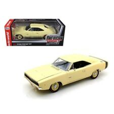 1968 Dodge Charger R/T SS1 Light Yellow 1/18 Diecast Model Car by Autoworld