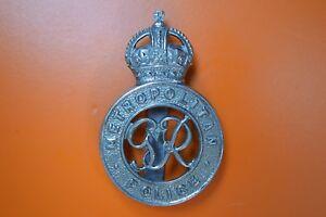 Vintage Metropolitan Police Cap Badge - King George VI Reign - 1936-1952