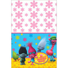 TROLLS PLASTIC TABLE COVER ~ Birthday Party Supplies Decorations Tablecloth Pink