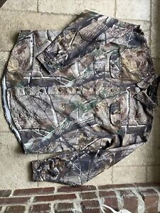 REALTREE Camo Button Shirt Camouflage Men Large Turkey Hunting