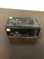 Nikon D3400 24.2 MP Digital SLR w/ NIKKOR 18-55 & 70-300mm VR Lens & Accessories
