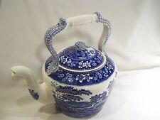Blue White Transferware LARGE Copeland Spode Tower Teapot Kettle