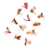 12 Pcs Dry Trout Fly Fishing Flies Topwater Fishing Lures Bait Hooks