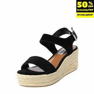 RRP €105 STEVE MADDEN Leather Ankle Strap Sandals EU 36 UK 3 US 6 Wedge Braided