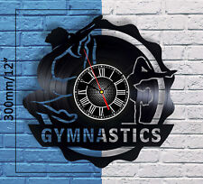 Gymnastics Equipment Vintage Vinyl Record Wall Clock Home Bedroom Decor art