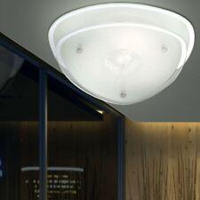 Decken Glas Strahler Treppenhaus Kristall Beleuchtung Chrom 1-flg Sockel 1x E27