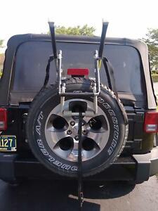 Sturdy Deluxe Allen 2-Bike Spare Tire Rack Jeep Wrangler Spare Trunk Hatch Mount