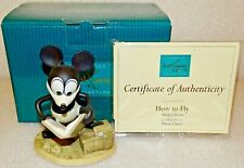 "WDCC Mickey Mouse Plane Crazy ""How to Fly"" Disney Classics Collection Retired"