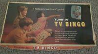 Vintage Rare Tune In TV Bingo Board Game Retro Vic-Toy