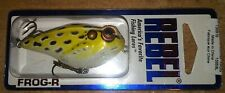 Rebel Frog-R Swamp Frog 2 3/8 in. Chartreuse/Black Spot Fishing Tackle Lure Nip