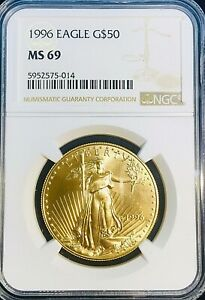 1996 American Gold Eagle 1 Ozt.$50 NGC MS69 NGC