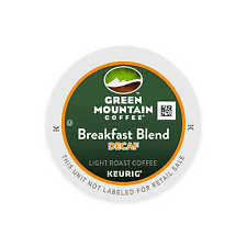 50 K Cups - Green Mountain Breakfast Blend Decaf - Loose - Fresh - Light