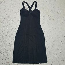 Moda International Little Black Dress ~ Sz S ~ Black ~ Sleeveless ~ Knee Length