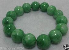 NATURE BEAUTIFUL GREEN JADE JADEITE BRACELET GREEN HAND CATENARY 12mm BRACELET