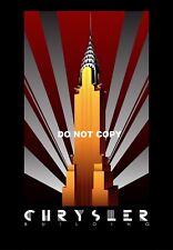 VINTAGE ART DECO Chrysler Building USA A4 Photo Brillant Poster print #10