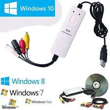 Box USB Scheda Acquisizione Video per Passare VHS su DVD Software Video Editing