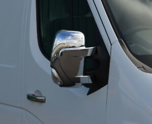 Chrome Wing Mirror Trim Set Covers To Fit Nissan NV400 (2010