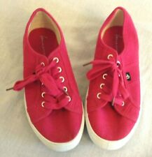 Women's Lane Bryant Hot Pink Lace Up Tennis Shoes Sneakers Size 9 Wide