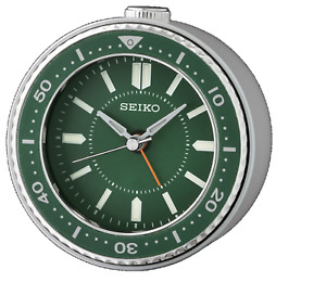 *BRAND NEW* Seiko Mai Green Alarm Desk Clock QHE184MLH