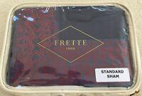 "FRETTE STANDARD Pillow Sham ITALY Castello Bordo 1x 20x28"" Fine Bed Linen $190"