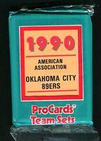 1990 Procards Team Sets American Association Oklahoma City 89ers jh11