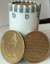 Bulk Lot of 25 Praying Hands One Day At A Time Serenity Prayer Medallions Chips