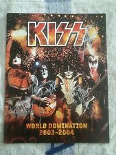 Kiss Hand Signed 2003-2004 Domination World Tour Book.