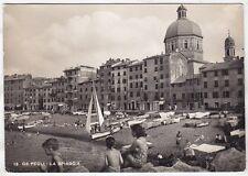 GENOVA CITTÀ 580 PEGLI SPIAGGIA - DONNA in COSTUME DA BAGNO Cartolina VIAGG 1951