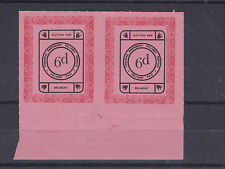1971 STRIKE MAIL OSBORNE BELMONT & SUTTON POST 6d PAIR BLACK & RED ON PINK MNH