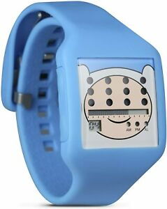 Nooka Unisex Digital Watch with LCD Dial Digital Display and Blue Plastic or Pu