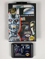 T2: The Arcade Game (Sega Genesis, 1992) Tested- Authentic- Sega - Free Shi