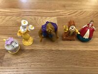 Lot of 5 Disney Beauty and the Beast Toys McDonalds Happy Meal Kids Cake Toppers