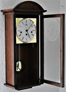 Kieninger Wand-Uhr 8 Tage-Werk Westminster 3 Melodien 8 Klangstäbe Edel-Holz