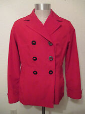 Esprit Coat/Jacket Size M  Red with Big Black Buttons Lined Pockets EUC