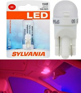 Sylvania Premium LED light 194 Red One Bulb Interior Dome Replacement Stock Fit