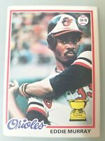 EDDIE MURRAY 1978 TOPPS #36 Orioles HoF ROOKIE RC