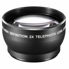New 55mm 2X Magnification Telephoto Lens Tele Converter for Canon Nikon Sony