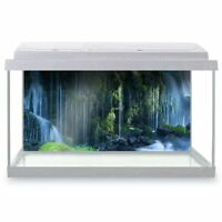 Fish Tank Background 90x45cm - Jungle Waterfall River Cool  #2736