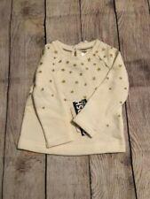 OshKosh - Toddler Girls Stars Long Sleeve Sweater - White...