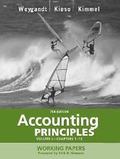 Accounting Principles Working Papers Volume 1 Chapters 1-13
